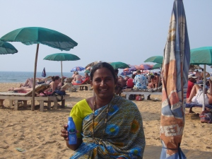 Candolim beach_Chandra, masseuse
