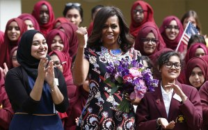 Michelle Obama at Mulberry School for Girls London